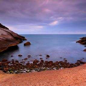 Secret bay by Jozef Svintek - Landscapes Waterscapes ( water, sand, seascape, landscape, rocks,  )