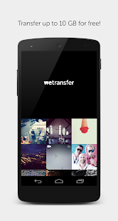 WeTransfer Screenshot