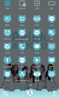 Screenshot of A-pink blue ver dodol theme