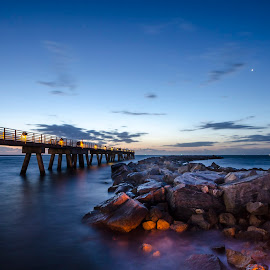 Jetty Park by Tyler Olson - Landscapes Waterscapes ( park, cape canaveral, pier, long exposure, ocean, sunrise, nikon, rocks, jetty  park, tamron )