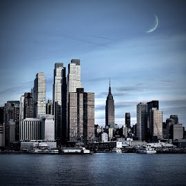 NYC at nightfall by Frank Simon - Buildings & Architecture Office Buildings & Hotels