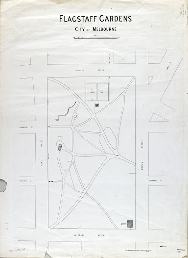 Plan of the Flagstaff Gardens, 1885