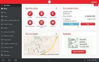 Screenshot of Era smartbanking