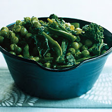Sauteed Broccoli Rabe and Peas.