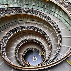 Spiraling Staircase by Johana Starová - Buildings & Architecture Public & Historical