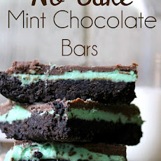 No Bake Mint Chocolate Bars