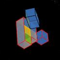 Cubes a 3D puzzle icon
