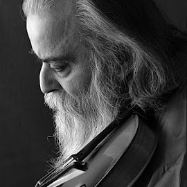 The Violinist by Rakesh Syal - People Portraits of Men (  )
