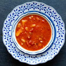 Tomato, White Bean, Bacon Soup