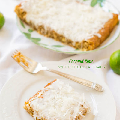 Coconut Lime White Chocolate Bars