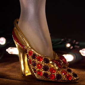 Sparkle by Jeannie Love - Artistic Objects Other Objects ( lights, leg, gems, ruby, object, shoe )