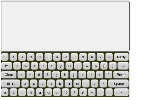 Mini Spanish Keyboard Pad