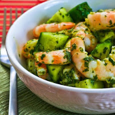Spicy Shrimp and Cucumber Salad with Mint, Lemon, and Cumin