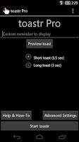 Screenshot of toastr Pro