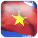 3D Vietnam Flag icon