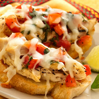 Tequila & Lime Chicken Bruschetta Mozzarella