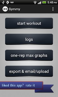 Gymmy Workout Log PRO - screenshot