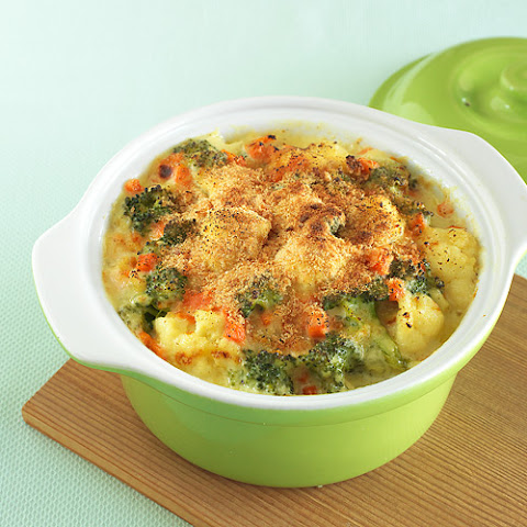 Cauliflower & Broccoli Au Gratin