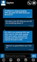 Screenshot of GO SMS Pro WP7 Theme