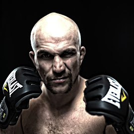 by Lisa Wellott - Sports & Fitness Boxing ( everlast, ufc, fighter, portrait, man )