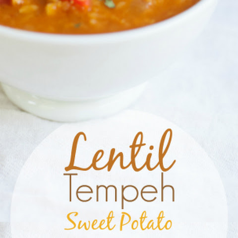 Lentil, Tempeh, and Sweet Potato Chili