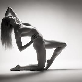 Katy - studio art nude by Barrie Spence - Nudes & Boudoir Artistic Nude ( studio, blonde, art nude, nude, pavilion photographic studio, blonde hair, female nude, studio nude )