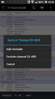 Screenshot of TV Faves Guide