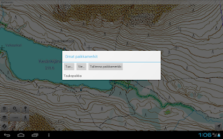 Screenshot of Karttaselain