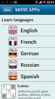 Screenshot of French phrasebook (free)