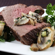Blue Cheese & Mushroom Stuffed Beef Tenderloin