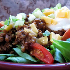Vegetarian Taco Salad (For the Dieter)