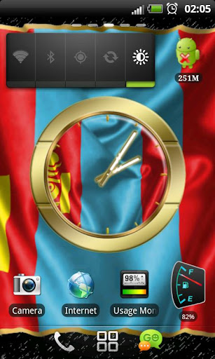 Mongolia flag clocks