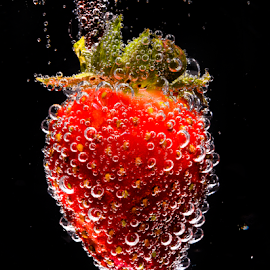 Strawberry Drop by Don Alexander Lumsden - Food & Drink Fruits & Vegetables (  )