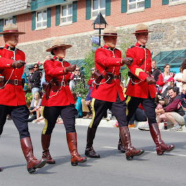 Canada Day Parade in Banff by Jim Czech - News & Events Entertainment ( parade, march, canada, canada day, parades, banff, mounties,  )