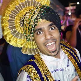 An Indian Gentleman, Street Performer by Alan Chew - People Portraits of Men