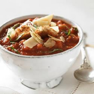 Tomato and Garlic Bread Soup