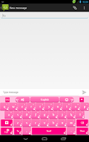 Screenshot of Pink Flowers Keyboard
