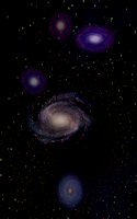 Screenshot of Intergalactic Music Visualizer