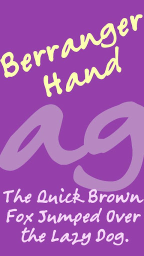 Berranger Hand FlipFont