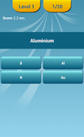 Screenshot of Periodic Table Quiz