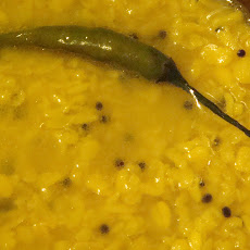 Mung lentils with rice