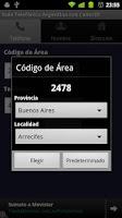 Screenshot of Guía Telefónica Arg (CallerID)