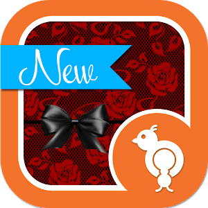 Red Rose Lace GO SMS Theme.apk 2.0