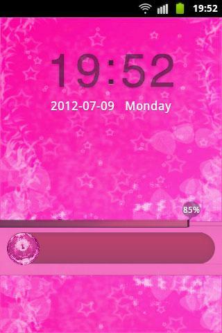 儲物櫃主題粉紅色的可愛明星 GO Locker Theme