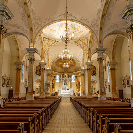 St. Agnes of St. Paul by Bill Kuhn - Buildings & Architecture Places of Worship ( chandelier, church, st. agnes, architecture, worship, st. paul )
