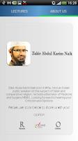 Screenshot of Zakir Naik - MP3 Lectures