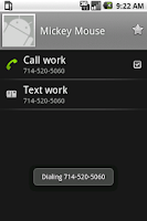 Screenshot of DTMFdial cost-saving dialer