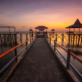 Pier II by Ade Noverzan - Buildings & Architecture Bridges & Suspended Structures ( dawn, pier, beach, sunrise )
