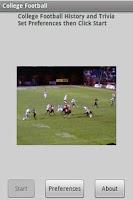 Screenshot of College Football History