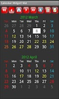 Screenshot of Calendar Widget! Wa!